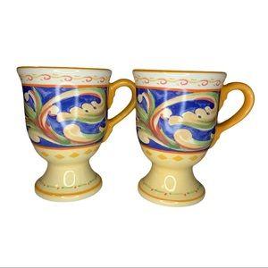 Pfaltzgraff Villa Della Luna Pedestal Mugs-Set/2